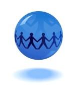 12284693-papier-mensen-keten-in-blauwe-wereldbol